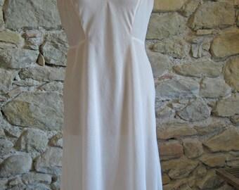 1920s Peach silk petticoat slip - vintage French flapper era lingerie