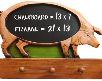 Pig Kitchen Chalkboard with Pegs