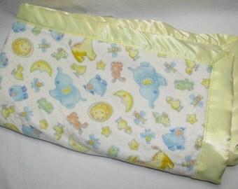 Satin baby blanket, Minky Blanket, Baby Blanket, baby shower gift, girls blanket, boys blanket, security blanket, satin trim blanket