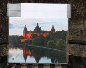 Schloss Johannisburg at Dusk Set of 6 Blank Notecards