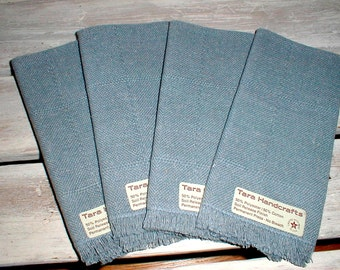 Four Tara Handcrafts Country Blue Napkins *Crafted With Pride In The USA* Never Used!