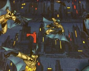 "Batman DC Comics 100% cotton quilting fabric fat quarter 18""X22"" Rare hard to find"