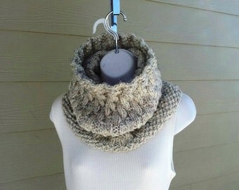 Gragareth Cowl - chunky, knit PDf knitting pattern, 2 sizes  casual, men, women, kids, teens, hiking, heavy warmth, medium skill level