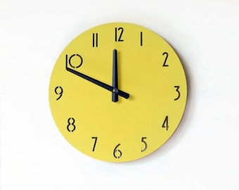 Yellow Wall Clock, Laser Cut Clock, Trending Home Decor,  Home Decor, Unique Clock, Decor and Housewares, Home Decor, Home and Living