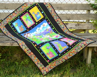 ON SALE NOW!****Colorful Fantasy Dragon Baby/Toddler Quilt