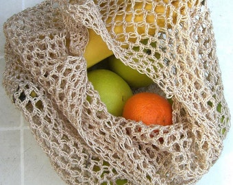 Made To Order - Cotton Crochet Shopping Bag - Choice of Colours