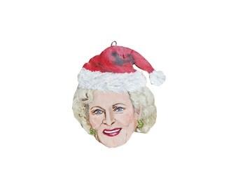 Betty White Rose Golden Girls Christmas Ornament