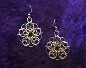 Handmade Chainmaille Blossom Earrings