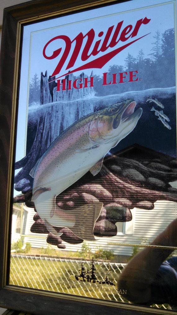 Vintage Miller High Life Wildlife Series Mirror