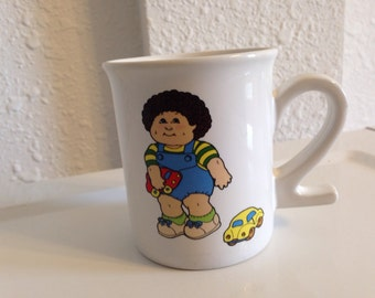 Vintage Cabbage Patch Kids Mug, Vintage Kids Glassware, Childrens Cup, Cabbage Patch Number 2 Mug, Two Years Old