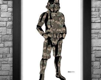 "STORM TROOPER ""U.S. Army"" inspired limited edition art print. Available in 3 sizes!"