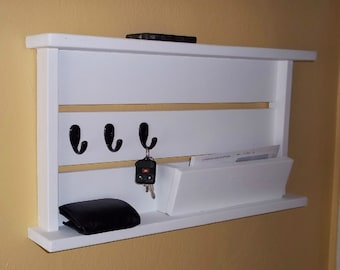 Mail Organizer with Key Hooks