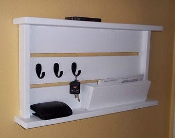 Mail Organizer with Key Hooks