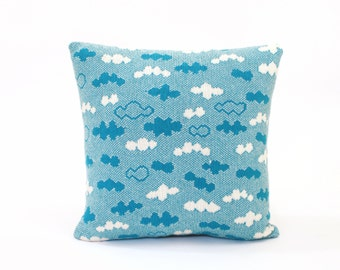 Blue Skies Pillow - Lambswool / Leather pillow