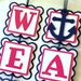 Nautical Door Sign . Anchors Away Banner . Nautical Party Welcome Aboard . Pink Nautical Theme . Nautical Party Banner . Vertical Banner