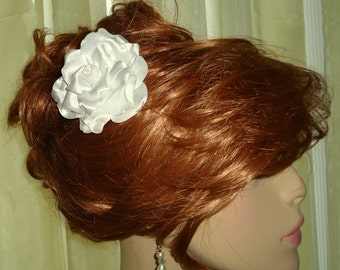 White Hair Flower, Gardenia Hair Flower, Wedding Gardenia, Gardenia Hair Comb, Wedding Hair Accessory, REX15-323