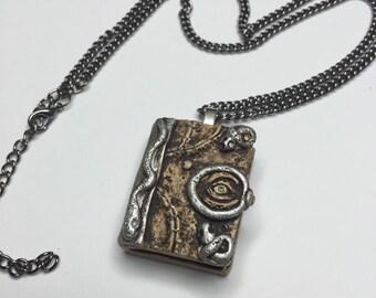 Hocus pocus book of spells necklace
