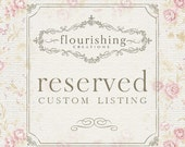 RESERVED LISTING for Jessica, 0916