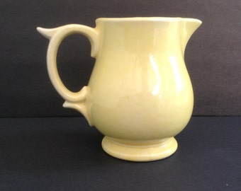 McCoy Pitcher Yellow Pottery