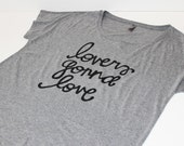 Lovers gonna love// Loose, comfy tri-blend women's T-shirt