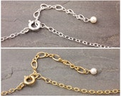 Necklace Extender, chain adjuster, sterling silver, gold filled, silver necklace, gold, adjustable chain, bracelet extender, AD