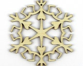 Queen of Spades - Laser Cut Wood Snowflake in Multiple Sizes and Quantity Discounts