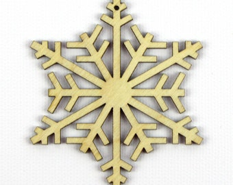 Snow Crystals - Laser Cut Wood Snowflake in Multiple Sizes and Quantity Discounts