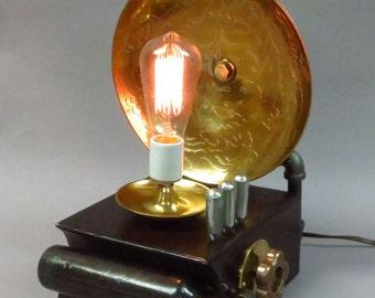 Dragon Lamp with Edison Bulb