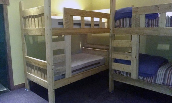 Rustic Bunk Beds Timber Style Wood Bunk Beds Cabin Decor