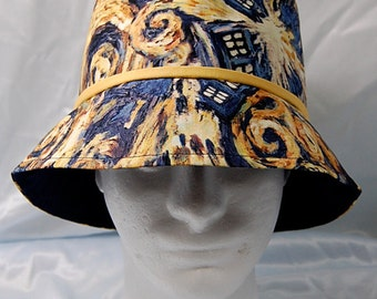 Doctor Who print mens bucket hat - size S