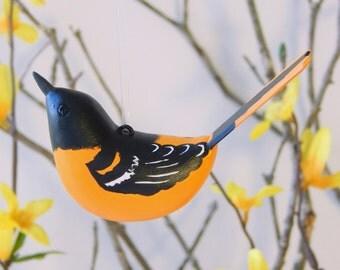 Bird Baltimore Oriole Sculpted Ornament