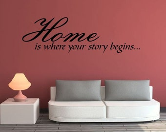 Home (Story Begins) Vinyl Wall Decal