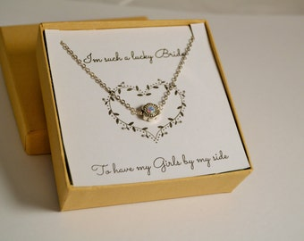 Silver Swarovski Charm Necklace