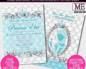 Princess Elsa Invitations, Disney Princess Invitations, Froze Invitations, Princess Party Invitations, Frozen Birthday Invitation
