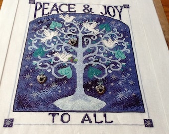 CHRISTMAS - Peace & Joy To All - Cross Stith Pattern Only