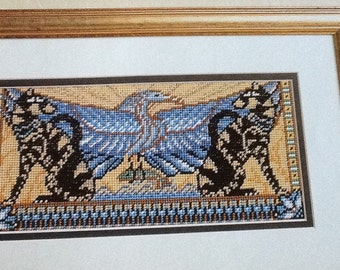 EGYPTIAN CATS PICTURE - Needlepoint Pattern Only