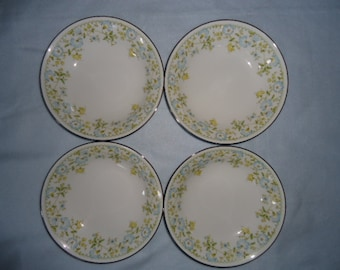 Noritake Soup Bowls Set of Four Flourish 2608 Japan 1975-1984 Vintage