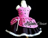 Hot Pink & Black Minni Mouse MiniBelle Ruffle Dress for Girls - Pageant - Birthday - Party - Princess - Celebration - Special Occasion