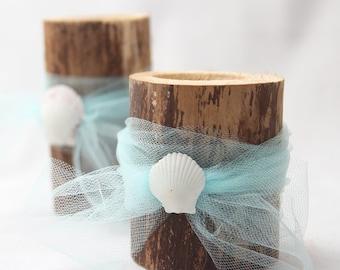 Beach Wedding Candle Holders - Set of 2