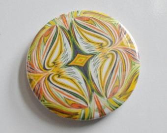 Caribbean Flames art design fridge magnet bottle opener yellow orange green black and white gift