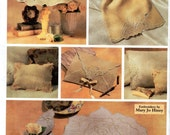 Cutwork Accessories Pattern - Napkin, Placemat, Pillowcase, Lampshde Cover, Envelope Bag, Pillow, Lingerie Sack- Vogue Craft 7652 uncut