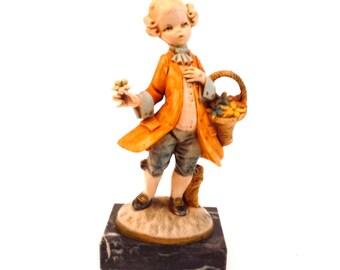 Depose Italy 763 Flower Boy Figurine