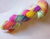 Pinata on Max 80/20 SW Merino Nylon Hand dyed fingering weight sock yarn