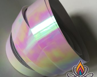 "3/4"" 36ft Roll, Moon Burst, Color Shifting Hoop Tape, Exotic Hoop Tape, Color Morphing Hoop Tape, Color Changing Tape, Iridescent"