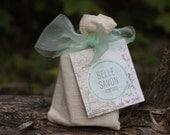 Artisan Soap Sampler Gift Bag- All Natural Handcrafted Soap-Belle Savon Vermont