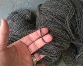 Handspun Yarn: Natural Gray Corriedale. 2 ply