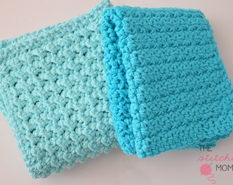PDF Crochet Pattern - Easy Textured Washcloths