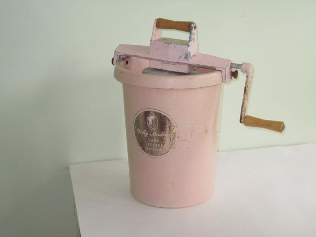 Vintage Pink Dolly Madison Hand Freezer Ice Cream Maker