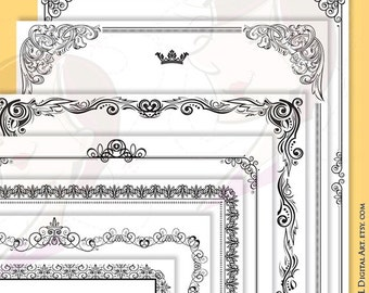 Page Border Frames Whimsical Frame Png Clipart Cute Doodle