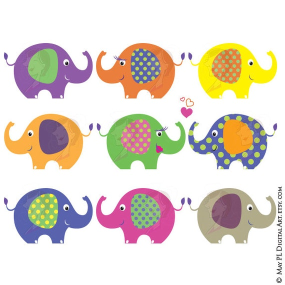 Elephant Classroom Decor ~ Items similar to elephant clip art theme digital